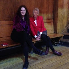 With the poet & artist, Joan Byrne